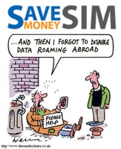 SaveSim-kaart